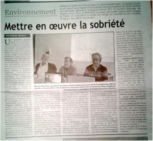 article l'Echo du centre